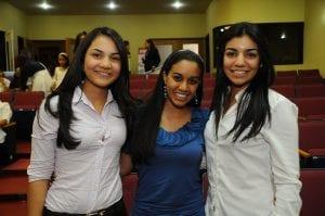 Mabel Vargas, Nicole Ortega y Franchesca Espinal