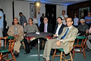 Funcionarios del Ministerio de Cultura presentes en la rueda de prensa.
