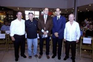 Fernando García, Thimo Pimentel, José Antonio Rodríguez, Carlos Santos y Ellis Pérez