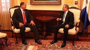 Luis Guillermo Solís y el presidente Medina.