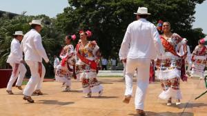 Con una exposición folklórica fue recibido el mandatario dominicano en Mérida,