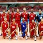 Integrantes de la selección nacional de voleibol.