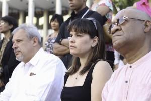 Familiares de Sonia Silvestre presentes en el acto.