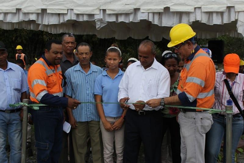 Corporación Minera Dominica inaugura un vivero forestal
