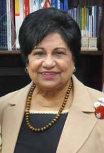 La ministra Ligia Amada Melo firmó varios acuerdos a nombre del gobierno dominicano