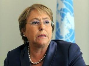La presidenta de Chile Michelle Bachelet