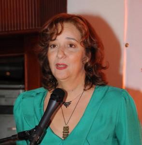 La actriz Karina Noble, directora del festival de teatro.