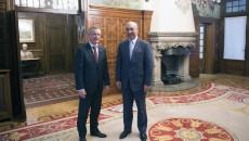 El embajador Aníbal de Castro con el Con el Lendakari Iñigo Urkullo, en visita  al País Vasco 25-09-15