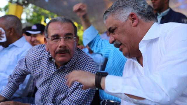 Danilo Medina y Miguel Vargas.