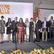 1 Ejecutivos y representantes de las empresas galardonadas durante la Premiación Empresarial de MercadoSocial.com