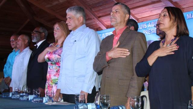 Eduardo Estrella encabezó el acto de proclomación de Manuel Jiménez.