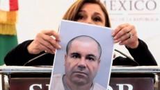 La procuradora de México muestra una foto de El Chapo tras su arresto este viernes.