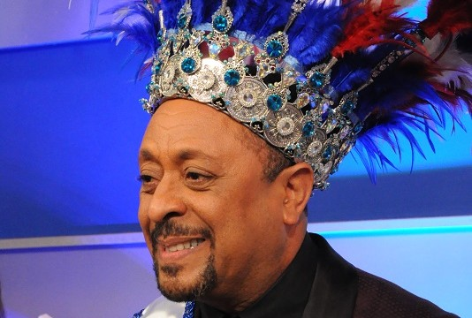 El rey del carnaval, Michael Michel, popular animador de la televisión dominicana.