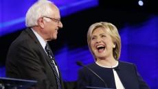 Sanders y clinton debaten ideas y propuestas.