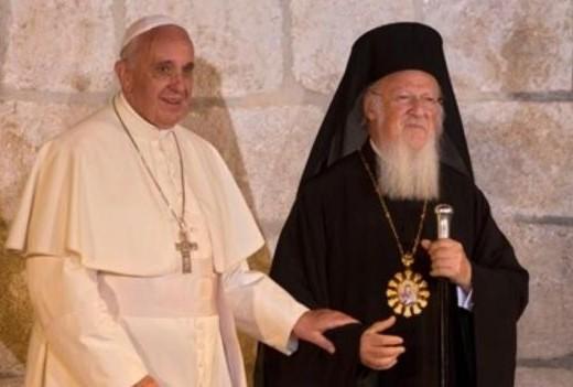 El  papa Francisco y el patriarca Kirill  reunidos en La Habana, Cuba.