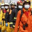 Socorristas en Taiwan.