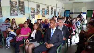 Los asistentes a acto del Colectivo de Dominicanos.