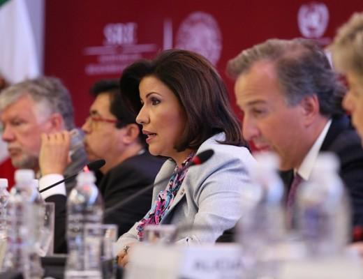 """La vicepresidenta,  Margarita Cedeño durante su intervención en el seminario de alto nivel """"Horizontes 2030: la igualdad en el centro del desarrollo sostenible"""", que organiza la Comisión Económica para América Latina y el Caribe (CEPAL),"""