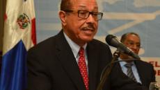 El Ministro Temístocles Montás durante la presentación de su discurso.
