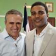 Dr. Pedro Dominguez Brito Expresidente de la FDA y Wily Gonzalez Presidente de la Federación Dominicana de Ajedrez.