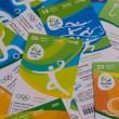 Boletas de entrada a los juegos olímpicos de Río, Brasil.