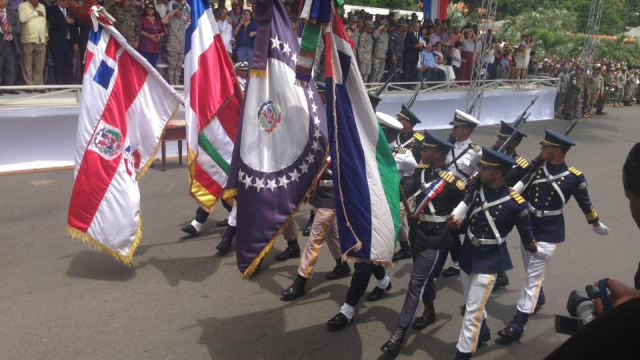 La batalla de La Barranquita cumpli{o 100 años este domingo, y por tal motivo se realizó el desfile militar.