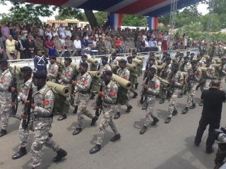 Militares dominicanos participan en la Batalla de la Barranquita.