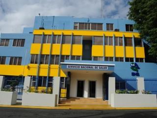Fachada del Hospital Cabral y Báez.