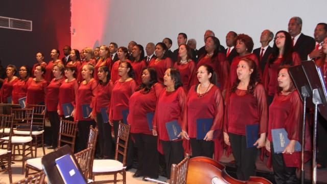 El Coro Nacional durante su presentación en el acto de celebración del Día del Músico.