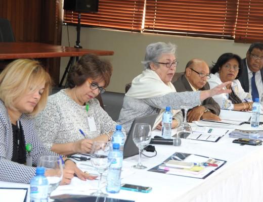La ministra de Salud Pública encabeza la reunión de estrategia.
