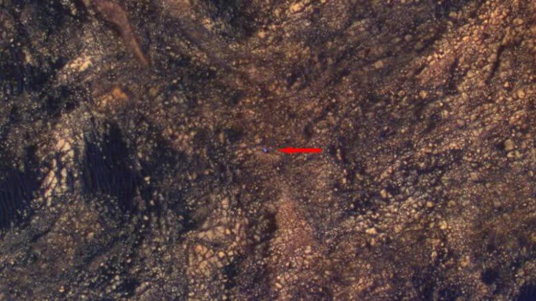 NASA capta imagen del Curiosity explorando Marte