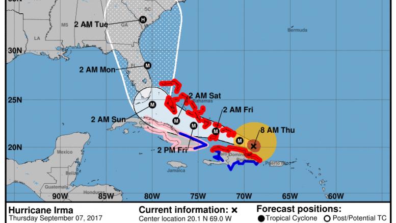La ferocidad del huracán 'Irma' desde varios ángulos — Videos