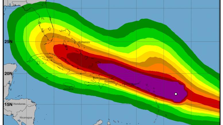Poderoso huracán Irma impactará desde las primeras horas de mañana Jueves RD