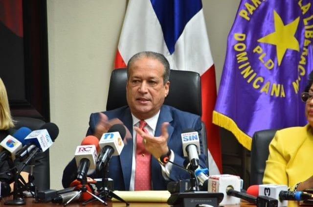 Reinaldo Pared Pérez proclama unidad del PLD